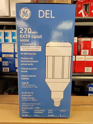 93095547 LED270BT56/740 270 Watt LED Corn Cob 277V-480V 4000K 40000 Lumen 70 CRI Mogul QS (EX39) Base Replacement Lamp
