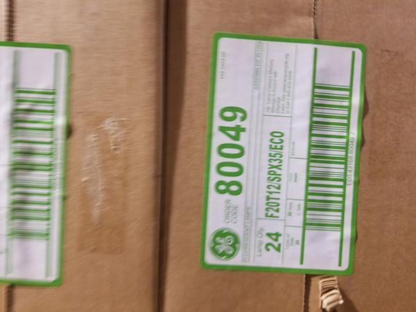 80049 GE F20T12/SPX35/ECO  Straight T12 Fluorescent Tube Light Bulb