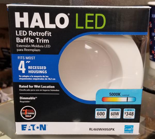 "Halo 4"" Retrofit Baffle-Trim LED Module RL460WH930PK"