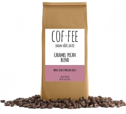 Caramel Pecan Blend Whole Bean Coffee, Medium Roast, 1-Pound Bag