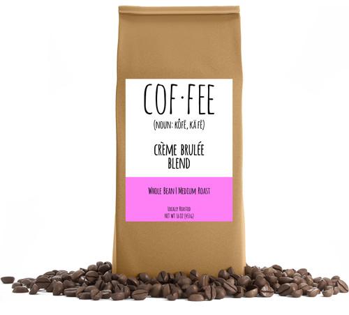 Crème Brulee Blend Whole Bean Coffee, Medium Roast, 1-Pound Bag