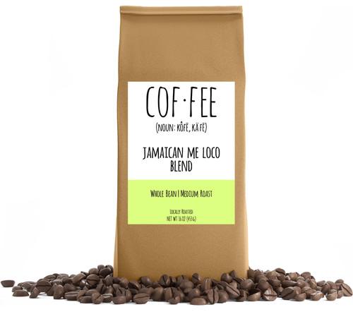 Jamaican Me Loco Blend Whole Bean Coffee, Medium Roast, 1-Pound Bag