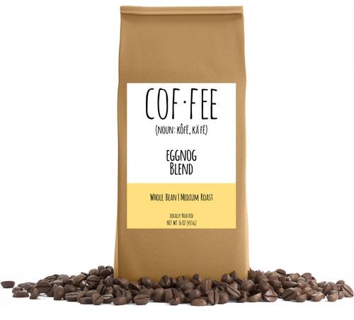 Eggnog Blend Whole Bean Coffee, Medium Roast, 1-Pound Bag