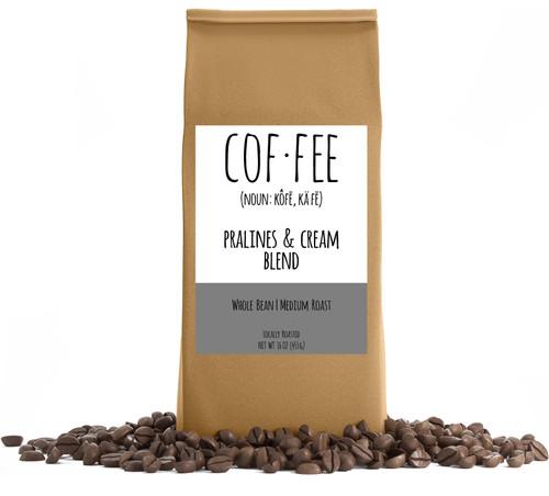 Pralines & Cream Blend Whole Bean Coffee, Medium Roast, 1-Pound Bag