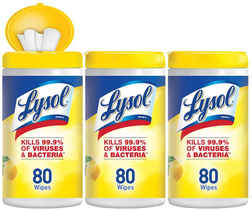 Lysol Disinfecting Wipes, Lemon & Lime Blossom 80 Count (3 Pack)