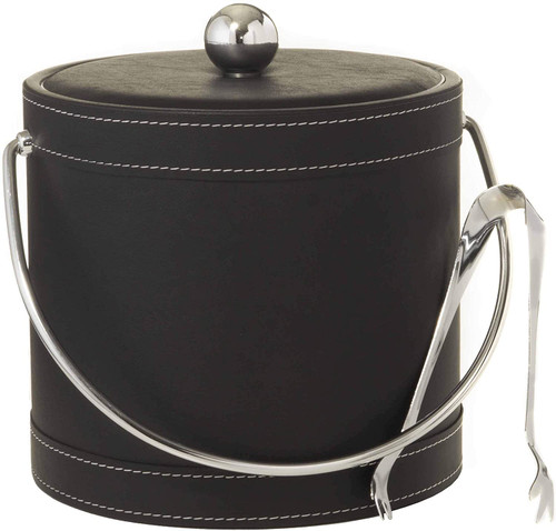 Hand Made In USA Double Walled 3-Quart Insulated Ice Bucket (Leatherette Collection)