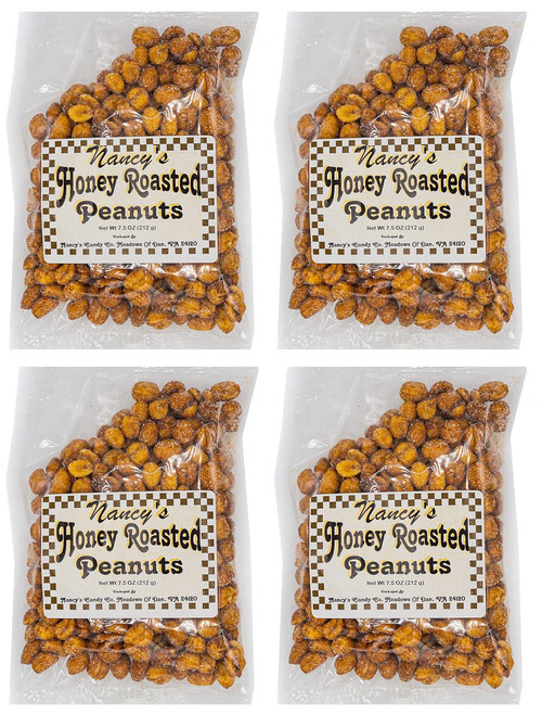 Made In USA Honey Roasted Peanuts Snack Set (7 oz - Pack of 4) 1.7 lbs