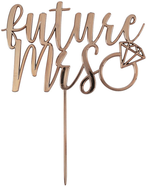 """""""Future Mrs"""" Cake Topper for Proposal, Engagement or Bridal Shower"""