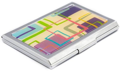 Slim Business Card Holder (Retro Squares)