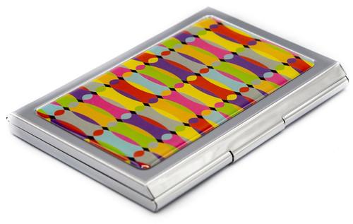 Slim Business Card Holder (Rainbow Bend)
