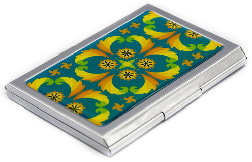 Slim Business Card Holder (Psychedelic Turquoise)