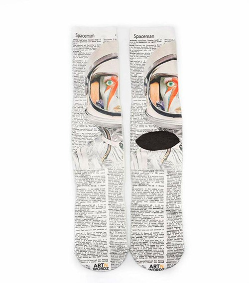 Made In USA Wearable Art Unisex Rockstar Stardust Crew Socks (One Size Fits Most 6-12)