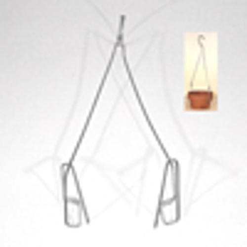 "Wire Pot Hangers (2 sided) 18"" for clay pots"