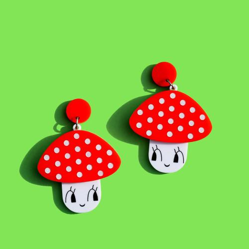 Happy Mushroom Earrings