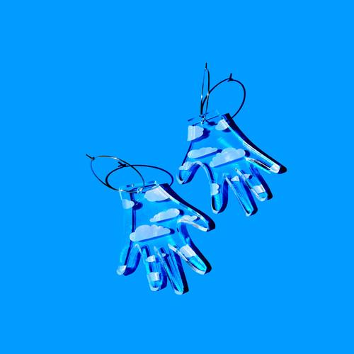 Hand Hoop (cloud print)
