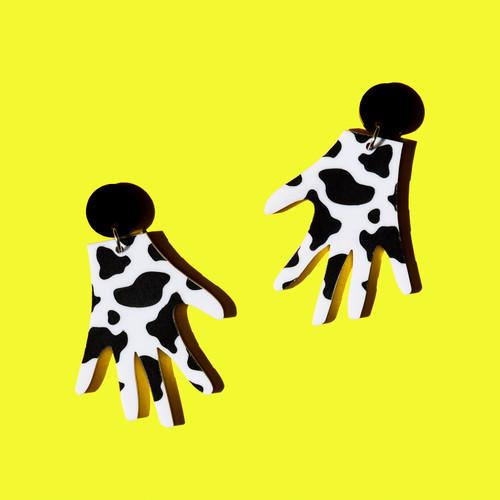 Cow Print Hands