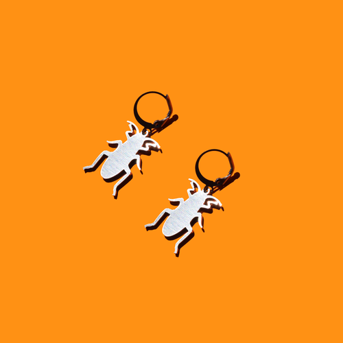Cockroach Charm Earrings