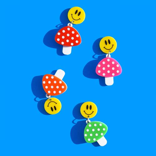 Smiley Mushrooms