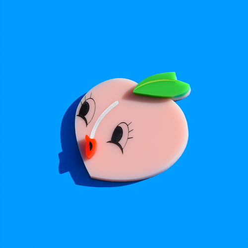 Pouty Peach Brooch