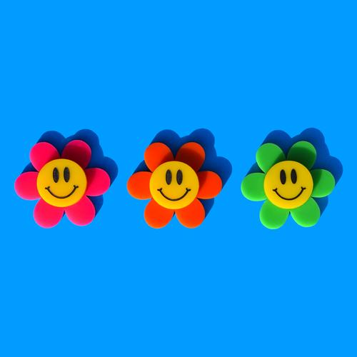Smiley Flower Hair Clip