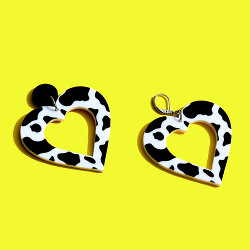 Big Cow Print Hearts