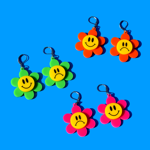 Smiley Flower Earrings