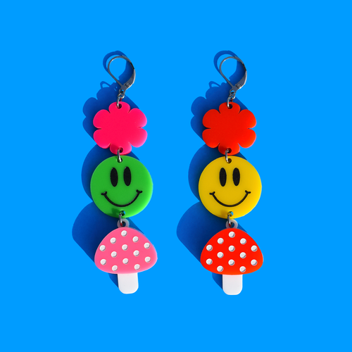 Smiley Mushroom Dangle