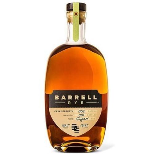 Barrell 5 Year Batch 002 Cask Strength Rye Whiskey 750mL