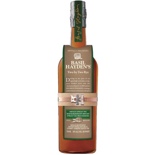 Basil Haden's Two by Two Rye Whiskey 750mL