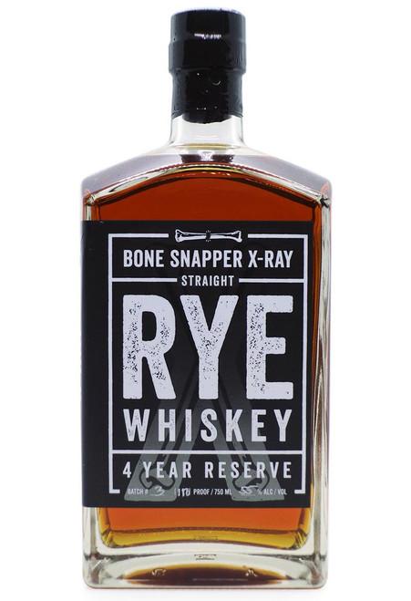 Bone Snapper X-Ray 4 Year Reserve Straight Rye Whiskey 750mL