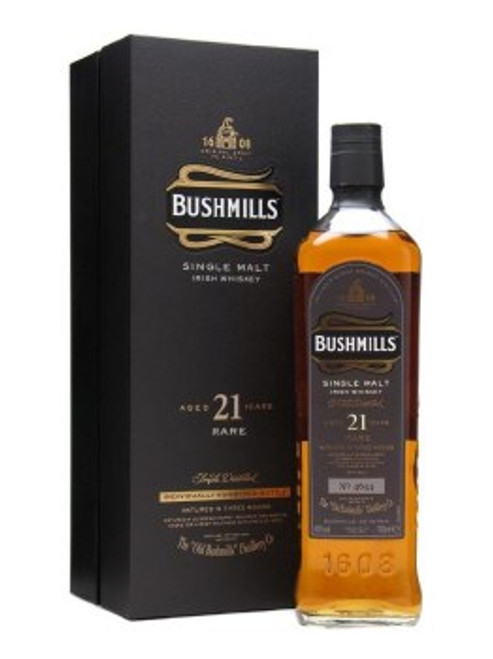 Bushmills Rare 21 Year Single Malt Irish Whiskey 750mL