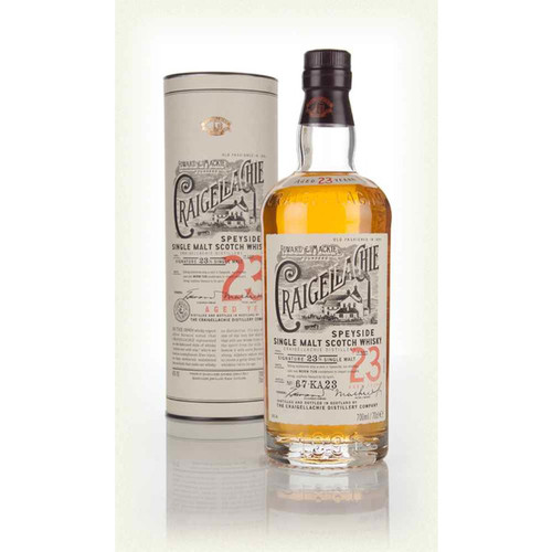 Craigellachie 23yr Speyside Single  Malt Scotch Whisky 750mL