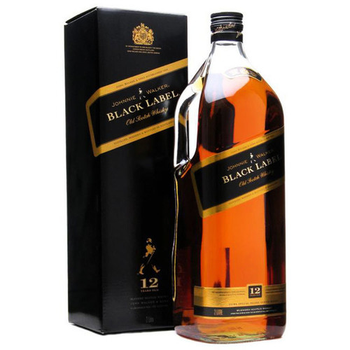 Johnnie Walker 12 Year Black Label Blended Scotch Whisky 1.75L