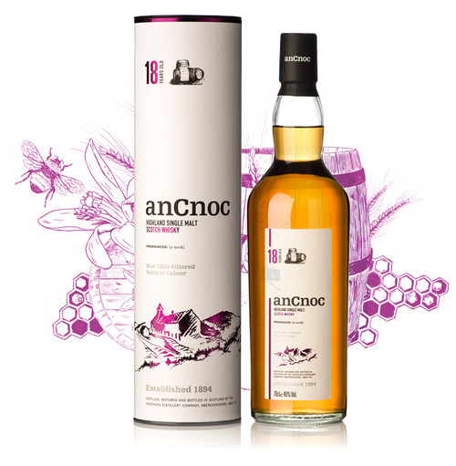 AnCnoc 18 Year Highland Single Malt Scotch Whisky 750mL