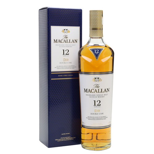 The Macallan 12 Year Old Double Cask Speyside Single Malt Scotch 750mL