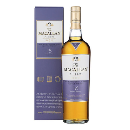 The Macallan Fine Oak 18 Year Old Single Malt Scotch Whisky 750mL