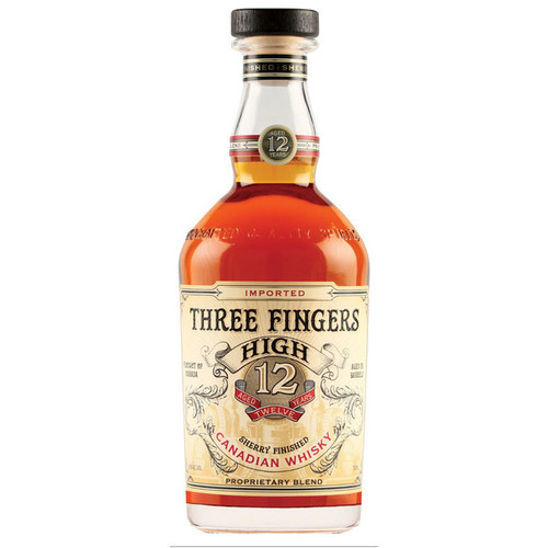 Three Fingers High 12 Year Sherry Finished Canadian Whisky 750mL