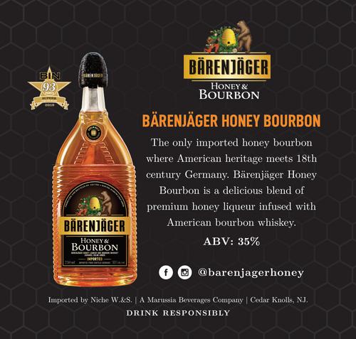 Bärenjäger Honey & Bourbon Liqueur 750mL