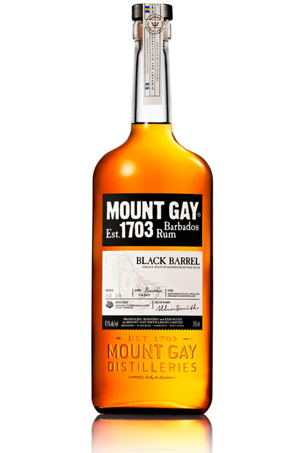Mount Gay 1703 Black Barrel Small Batch Handcrafted Barbados Rum 750mL