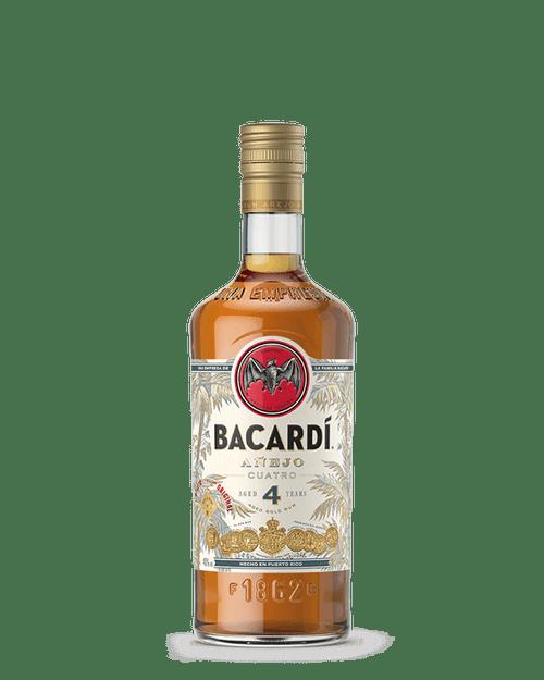 Bacardi Añejo Cuatro Gold Puerto Rican Rum 750mL