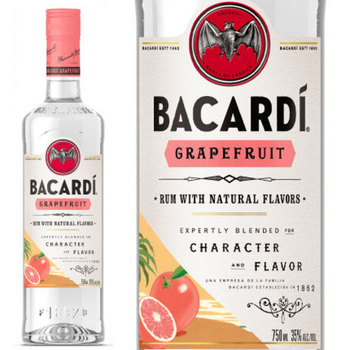 Bacardi Grapefruit Flavored Rum 750mL