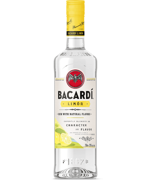 Bacardi Limõn Lemon Flavored Rum 750mL