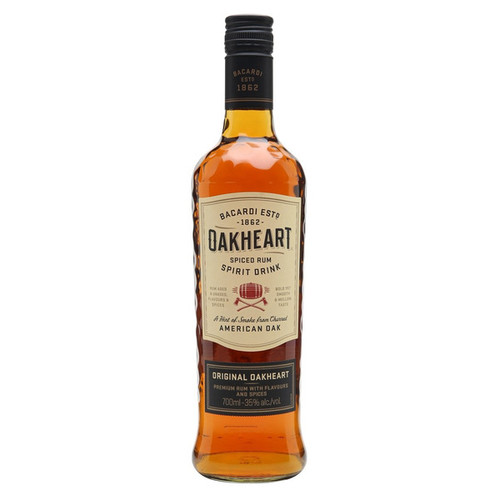 Bacardi Oakheart Genuine Spiced Rum 750mL