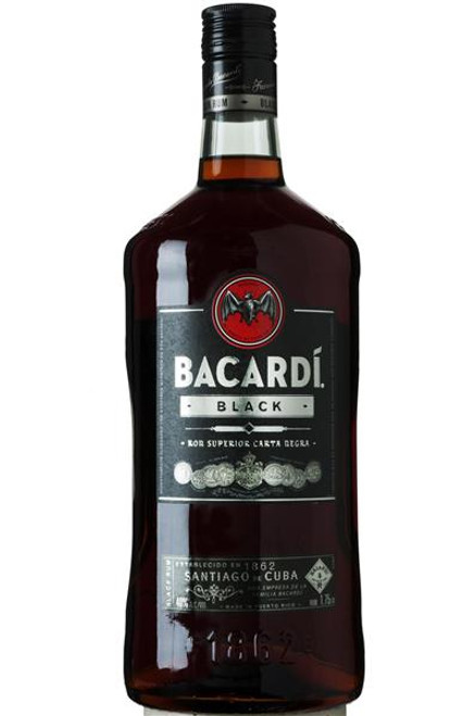 Bacardi Black Ron Superior Carta Negra Rum 1.75L