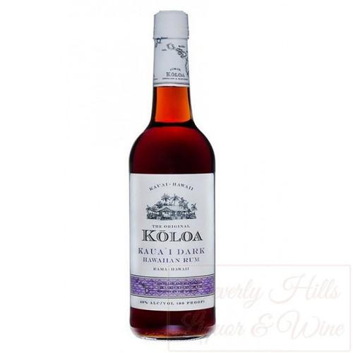 Kōloa Kaua'i Dark Hawaiian Rum 750mL