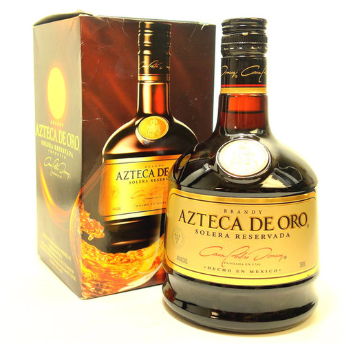 Azteca de Oro Solera Reservada Mexican Brandy 750mL