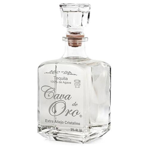 Cava de Oro Tequila Extra Añejo Cristalino 750mL