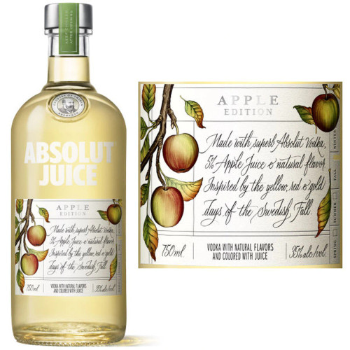 Absolut Juice Apple Edition Vodka 750mL