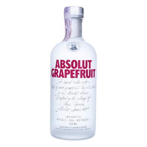 Absolut Grapefruit Flavored Vodka 750mL