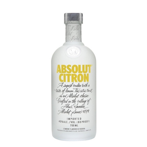 Absolut Citron Flavored Vodka 750mL